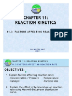 11.3 Factors Affecting Reaction Rate