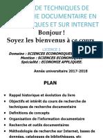 1èrePARTIE_COURS_TECHNIQUES_RECHERCHE_DOCUMENTAIRE_L1_SEG_2017_2018