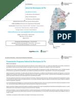 Programa Federal Municipios de Pie