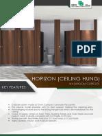 Horizon Ceiling Hung