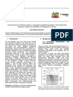The Occurrence of Native copper in supergene weathering profiles - The relationship between oxides and sulphides - Mt Margaret – Australia