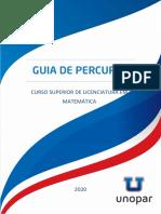 Guia de Percurso Matematica Unopar 2020