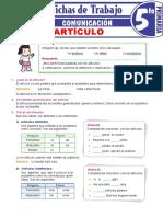 Clases-y-accidentes-gramaticales-del-artículo-para-Quinto-Grado-de-Primaria