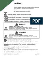 Safety note 4189341189A UK-FR
