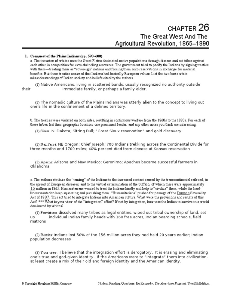 Ch 26 Study Guide   People's Party (United States)   Native Americans In  The United States