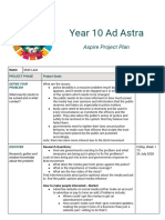 year 10 ad astra - aspire project plan  2