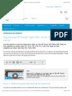 "Impresoras HP Smart Tank 500 - Error ""E3"" (atasco del carro)   Soporte al cliente de HP®"