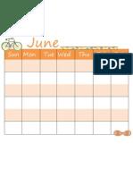 6. June Calendar