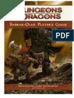 Sabrak-Olar Player's Guide