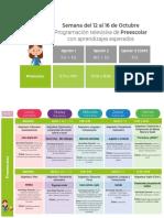 Aprendizajes Esperados PREESCOLAR Semana 8-1