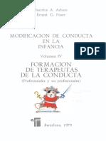 Modificación de conducta en la infancia Vol. 4 Formación de terapeutas de la conducta - Beatrice Ashen y Ernest Poser