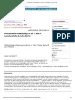 Presupuestos Metodológicos de La Teoría Iusnaturalista de John Finnis
