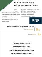 Guia de orientacion para la intervención conflictos