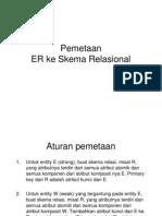 Pemetaan ER Diagram Ke Skema Relasi