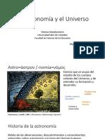 La astronomía y el Universo