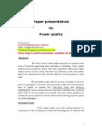 Power quality techniques
