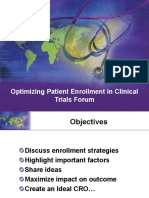 Optimizing Patient Enrollment in Clinical Trials