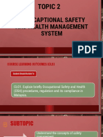 Topic 2 OSH MANAGEMENT SYSTEM DUW10022