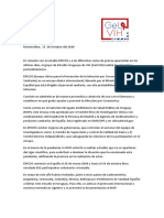 Comunicado de Prensa 13 de Octubre 2020