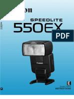 Canon Speedlite 550EX User Manual