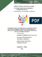 T-INCREMENTO DE LA EFICIENCIA EN LA EXPORTACION DE POTA DE LA EMPRESA ALIMENTOS CONGELADOS S.A.C. UBICADA EN EL PUERTO DE ILO A TRAVES DE PUERTOS DE ADUANA ALTERNOS 2013-2015