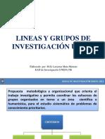 LINEAS Y GRUPOS DE INVESTIGACIÓN UNEFA.