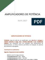 AMPLIFICADORES DE POTÊNCIA