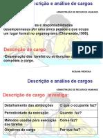 DESCRICÃO E ANALISE DE CARGOS
