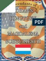 Hingtgen Family History Book