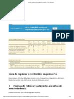 Guía de líquidos y electrolitos en pediatría – UCI Pediátrica
