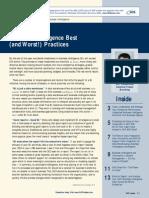 Business Intelligence Best Practices -Sap