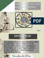 LOS DERECHOS DE LOS NIÑOS EN EL PERU