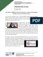 Press release- 2020 - 016 31st NSM LGU's Week
