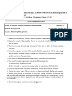 ASSIGNMENT QUESTION FOR MARKETING MANAGEMENT.docx