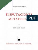 Suárez, Francisco. Disputaciones Metafísicas XXX - XXXIX. Edición Bilingüe. Madrid  Gredos, 1963. Vol. 5.pdf