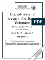 DISS_Q1_Mod1_Social Sciences to a Better World