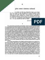 C. Geertz (2003) - La religión como sistema cultural