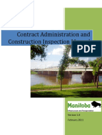 Contract Administration and Construction Inspection Manual