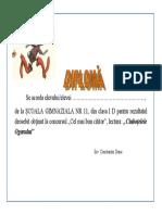 Diplomă Ciuboțelele Ogarului