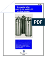 Liquid Nitrogen Container Instruction Manuals