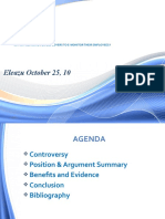 Should Employer Monitor Its Employees