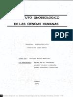 1. Estatuto gnoseológico de las ciencias humanas (Tomo 1) - Gustavo Bueno.pdf