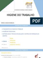 HIGIENE DO TRABALHO Aula 1