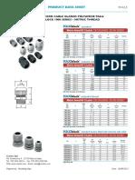 Datasheet CEMBRE CABLE GLANDS POLYAMIDE 1900-1901 SERIES (EN)