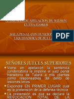 AUDIENCIA WILSON CUEVA FLORES