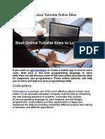 Best Java Tutrioal Online Site