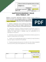FT-SST-027 Formato Objetivos de Seguridad y Salud en el Trabajo