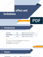 Requests, offers and invitations