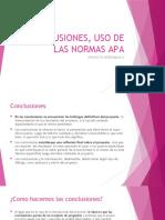 CONCLUSIONES, USO DE LAS NORMAS APA.pptx