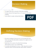 5.0 Decision Making